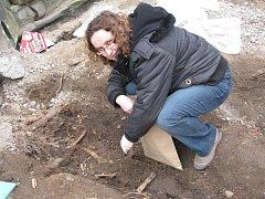 Nález lidské kostry na náměstí TGM v Příbrami