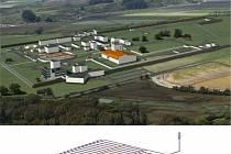 Schéma hlubinného úložiště jaderného odpadu.