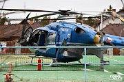 U Dobříše havaroval vrtulník záchranářů.
