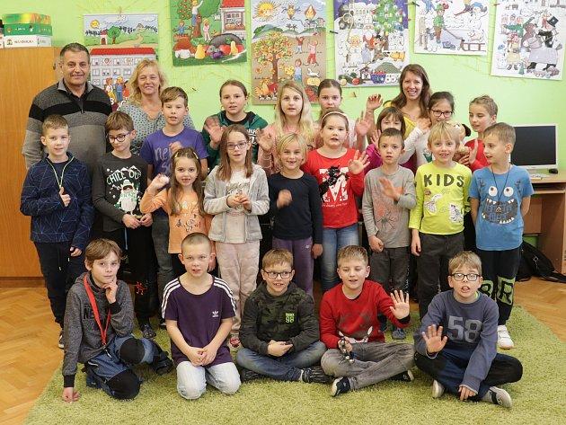 Prvňáčci zHluboši ve školním roce 2019/2020.