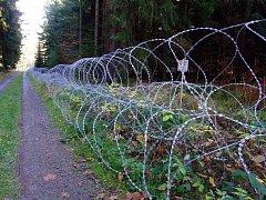 Ostnatý plot na kótě 718 v Brdech