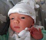 ONDŘEJ KOCIAN, syn maminky Anety a tatínka Ondřeje z Příbrami, se narodil v pondělí 26. června o váze 3,00 kg a míře 47 cm.