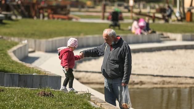 Sportovní a rekreační areál Nový rybník v Příbrami.