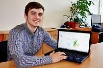 Jakub Pogran s prezentací projektu.