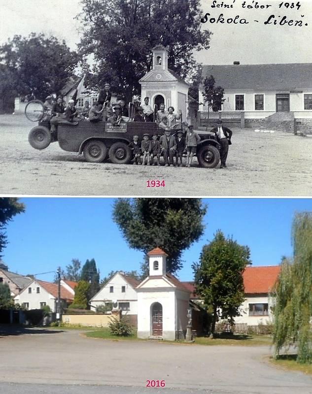 Buková u Příbramě - Kaplička a  hostinec U Hesů.