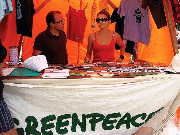 Informační stánek Greenpeace