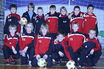Mladší žáci 1.FK Příbram po turnaji v Českých Budějovicích, kde získali 3. místo.