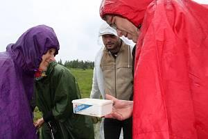 Exkurze za vážkami na území bývalé obce Hrachoviště v CHKO Brdy.