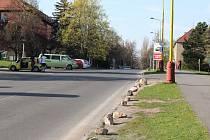 Ulice Legionářů v Příbrami.