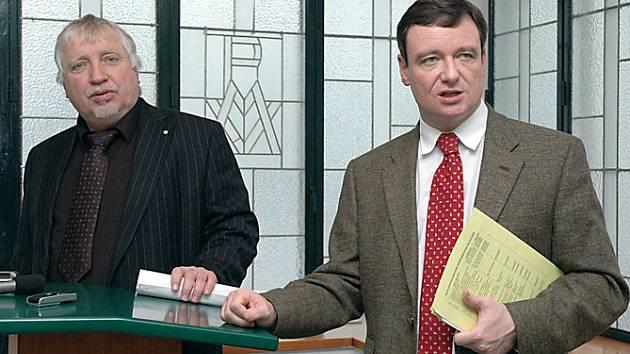 Hejtman David Rath a jeho náměstek Zdeněk Seidl.