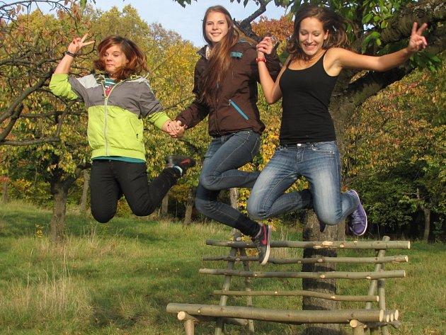 Podzimní vycházka studentů z domova mládeže.