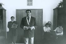 Bývalý dublovický starosta Bláha v obřadní síni.
