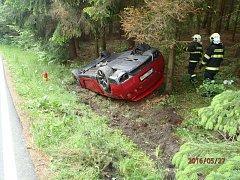 Dopravní nehoda u města Sedlec-Prčice.
