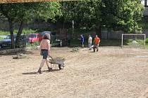 Obnova hřiště Na cvičně v příbramské městské části Březové Hory.