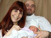 ELIŠKA LACINOVÁ, první štěstí rodičů Markéty a Luboše z Hájů, prvně zakřičela na svět v úterý 21. března o váze 3,30 kg.