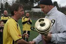 Vyhlášení malého fotbalu: 1. místo Union Brdy.