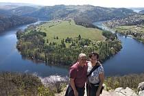 Vyhlídka nad Vltavou mezi Zduchovicemi a Solenicemi je v posledních letech vyhledávaným turistickým cílem.