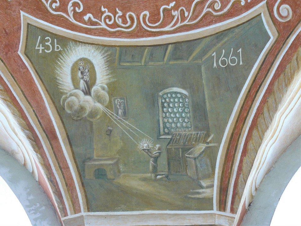 Sto svatohorských milostí: obraz číslo 43b.