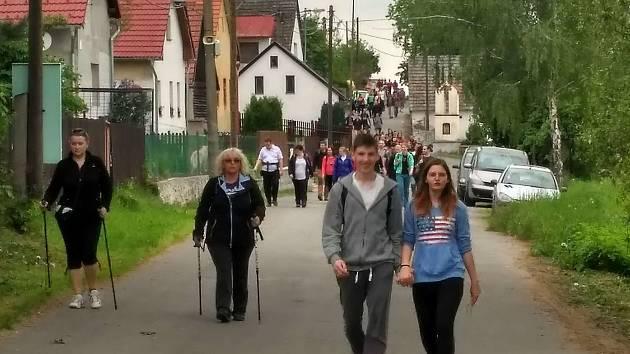 Pochod Praha-Prčice na Sedlčansku.
