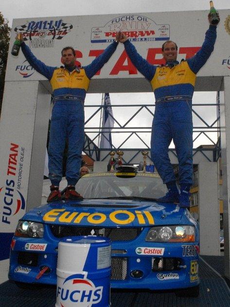 Václav Pech je prvním jezdcem ve třicetileté historii příbramské rally, kterému se zde podařilo vyhrát třikrát v řadě.
