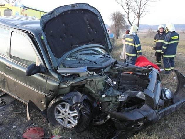 Sobotní nehoda na strakonické silnici.