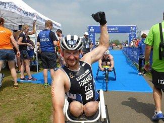 REKORDMAN. Paratriatlonista Jan Tománek zvládl závod světového poháru ve Velké Británii v osobním rekordu.