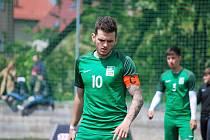 Kapitán příbramského výběru U23 Daniel Hájek.