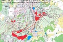 Lokality v Příbrami, kterých se týká vyhláška omezující konzumaci alkolických nápojů na veřejnosti.