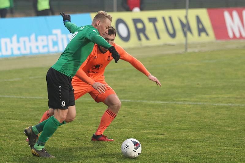 Ze zápasu 9. kola FORTUNA:LIGY mezi Příbramí a Mladou Boleslaví.