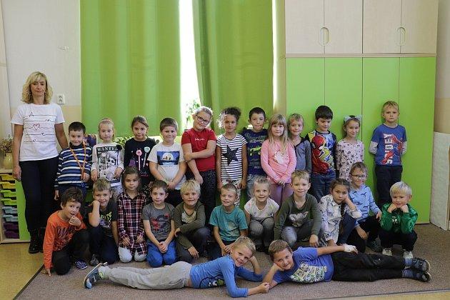 Základní škola Jiráskovy sady vPříbrami: třída 1.B sučitelkou Hanou Machutovou.
