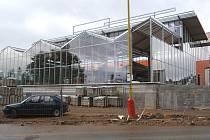 Staveniště nového obchodního centra v Příbrami na Zdaboři