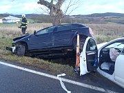 Vážná dopravní nehoda nedaleko Sedlčan v sobotu 22. prosince 2018.