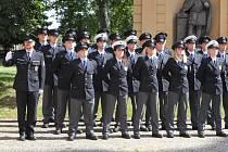 Slavnostní přísaha policistů.