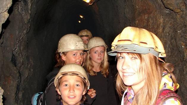 Podzemí Hornického muzea Příbram.