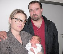 Kateřina Lánská se mamince Kateřině a tatínkovi Ondřejovi z Mokrska narodila ve čtvrtek 7. dubna, vážila 3,67 kg a měřila 50 cm. Radost ze sestřičky mají desetiletá Dominika a tříletá Veronika.