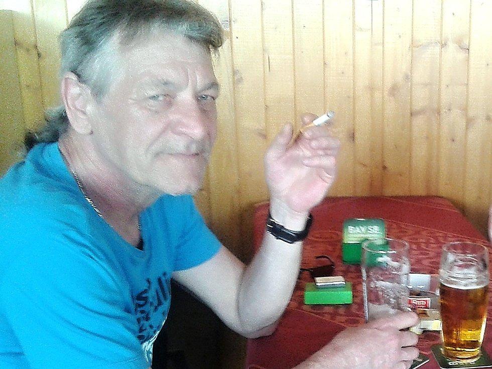 Vladimír, pravidelný host pivnice na Fialce v Příbrami.