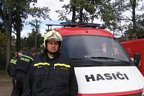 Velitel obecnických hasičů Petr Juříček.