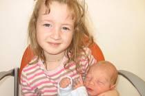 Čtyřletá Sabinka z Prahy má velkou radost z brášky Mikuláše Felixe Bíži, který se mamince Lucii a tatínkovi Palovi narodil v pondělí 23. listopadu a u jména má z toho dne zapsánu váhu 2,80 kg a míru 48 cm.