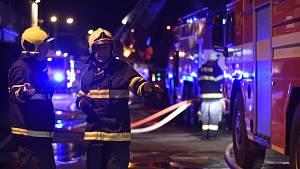 Požár pizzerie v Pražské ulici v Příbrami