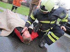 Cvičná evakuace v mateřince v Obecnici.