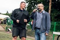 Ředitel Superligy malého fotbalu Petr Brejla (na snímku vlevo).