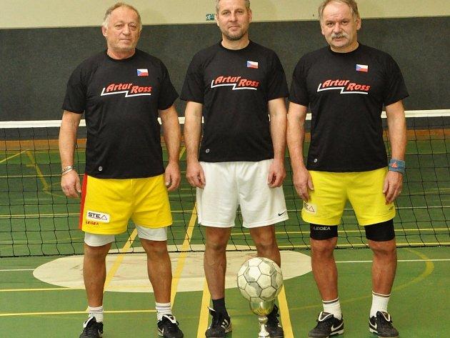Artur Ross Příbram (zleva): Jan Šejna, Petr Hipča, Čenda Černý.