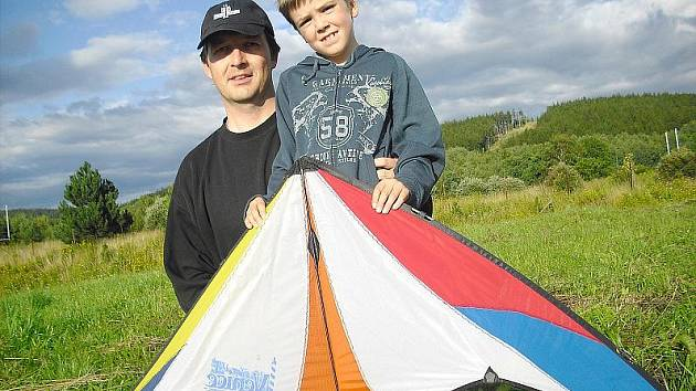 Martin Cinert se synem Patrikem.