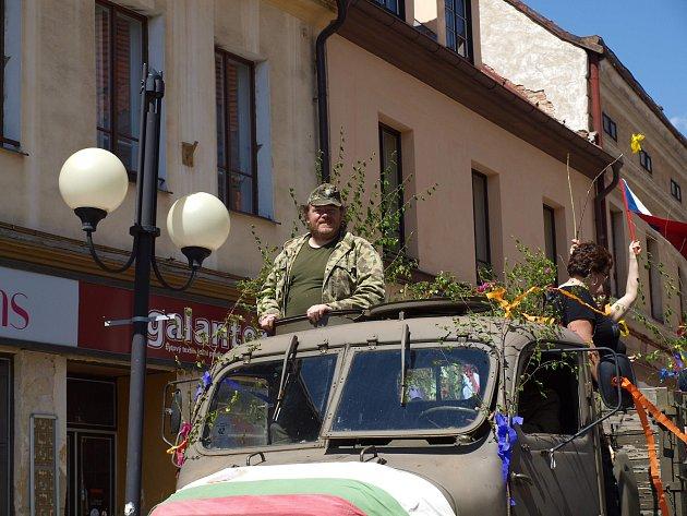 1. květen v Rožmitále v režii Klubu vojenské historie.