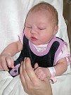 MICHAELA Ptáčková, první potěšení maminky Jitky a tatínka Robina z Příbrami, prvně pohlédla na svět v úterý 4. října a v ten den vážila 3,21 kg.