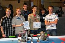 Příbramští studenti na soutěži.