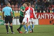 Zápas 25. kola FORTUNA:LIGY 1. FK Příbram - Slavia Praha 0:2.