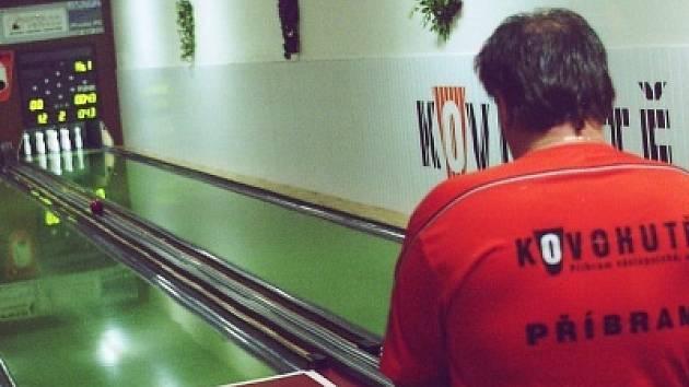 Kuželkáři Kovohutí Příbram hráli další zápas.