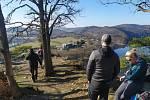 Naučná stezka Drbákov - Albertovy skály poblíž Nalžovic.
