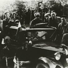 Skupina příbramských partyzánů, kteří se zúčastnili 11. 5. 1945 bitvy u Slivice.